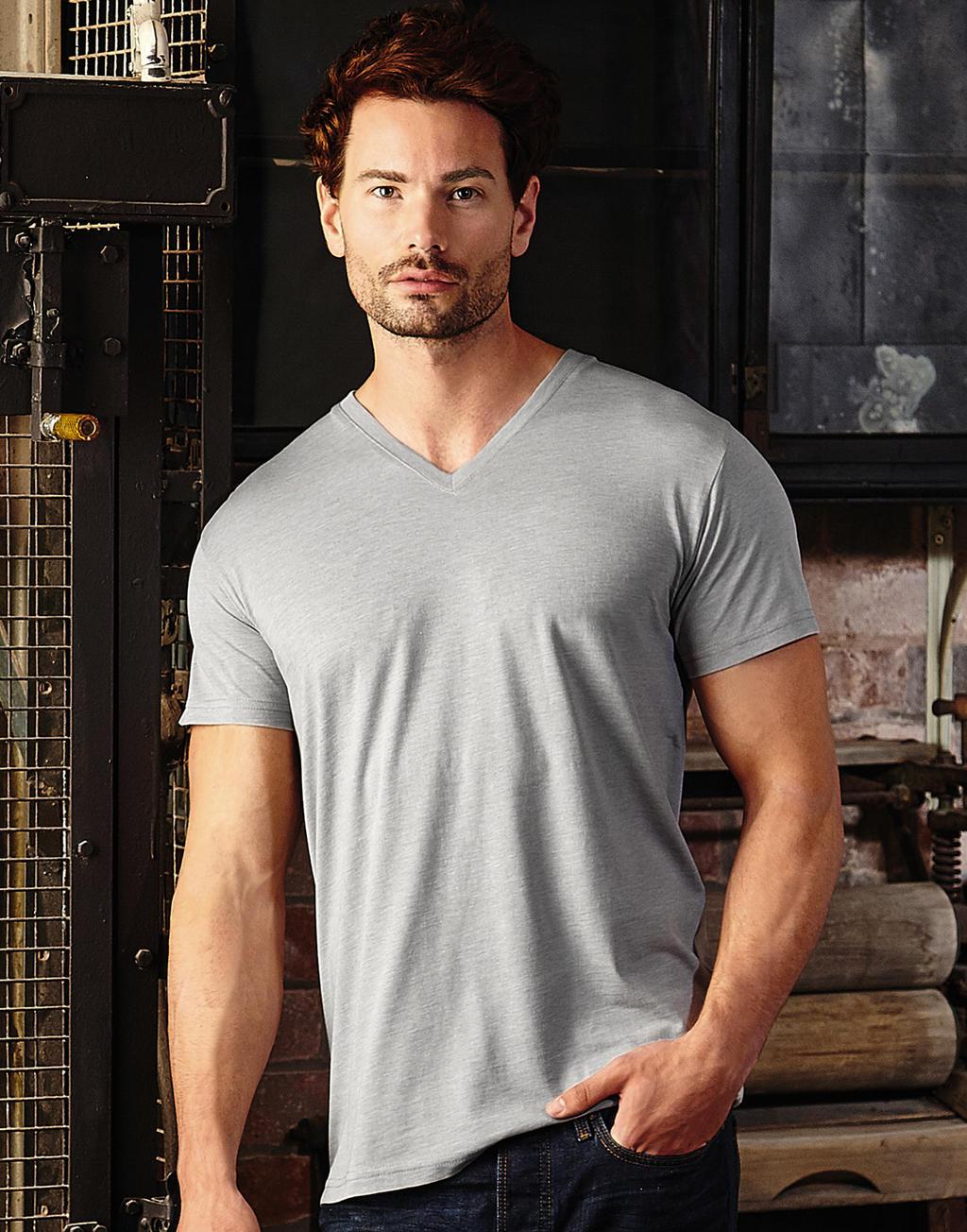 Zeefdruk T-shirts grijs mannen