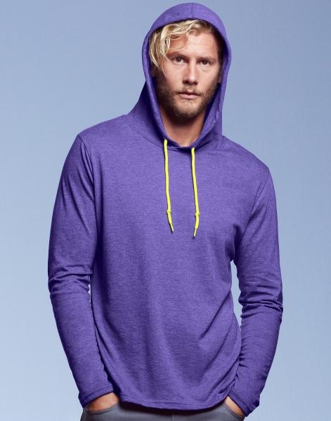 ANvil hoodie paars manne