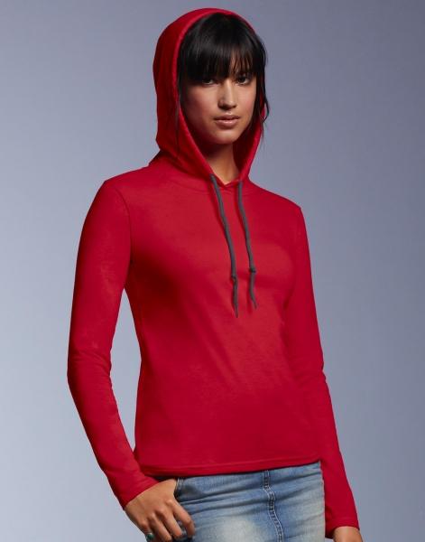 Onze merken Anvil hoodie vrouwen rood