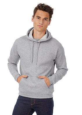 B&C hoodie grijs mannen