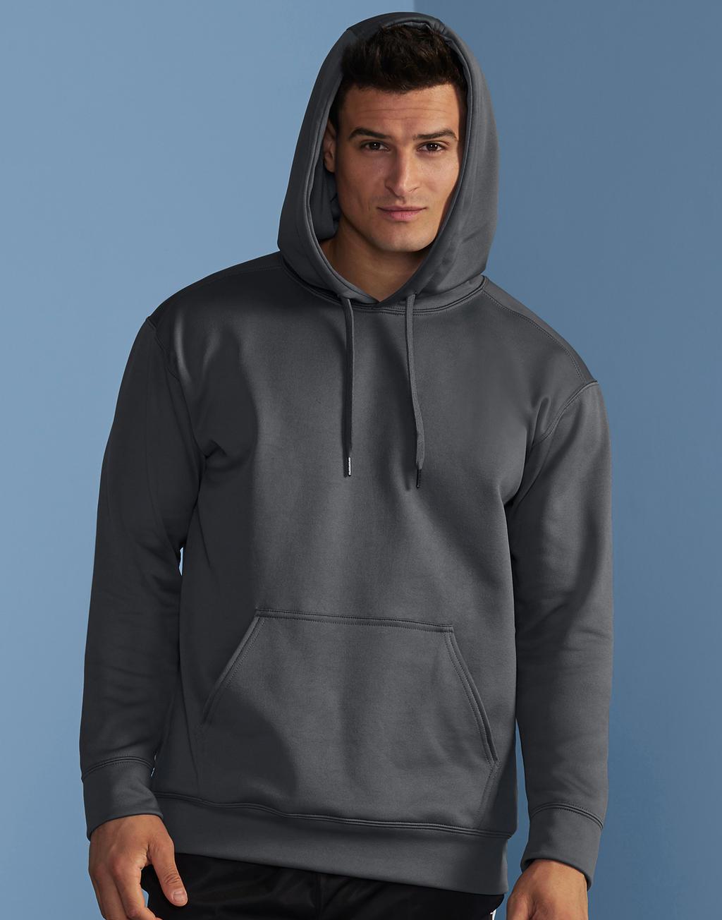 Gildan hoodie grijs mannen
