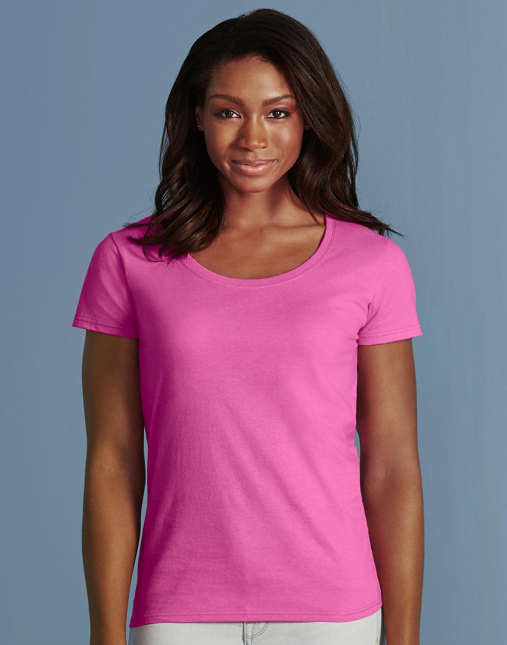 Gildan roze shirt vrouwen