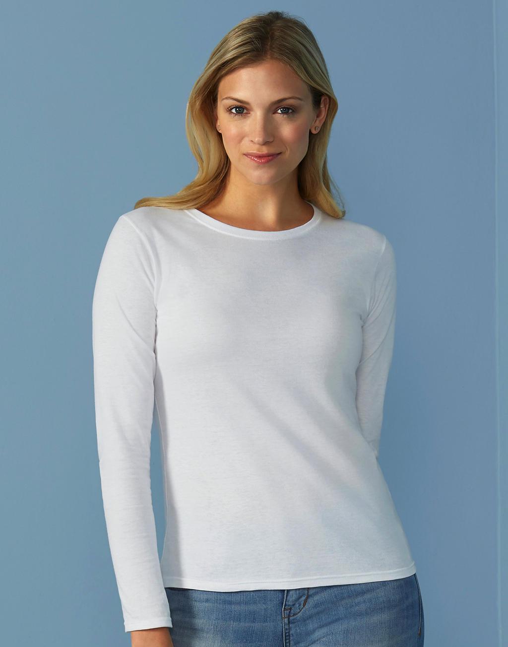 Lange mouwen T-shirt vrouwen wit