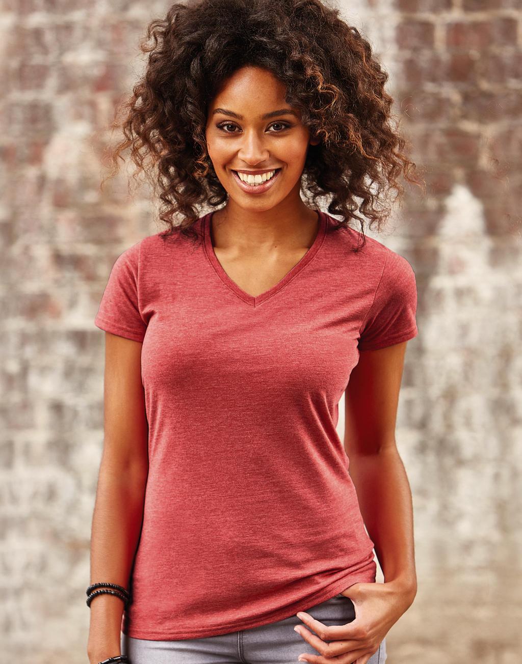 Zeefdruk T-shirts V neck vrouwen